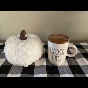 Rae Dunn Teacher Fuel mug with wooden Lid